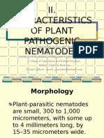 Characteristics of Plant Pathogenic Nematodes