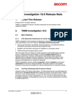 TEMS Investigation 16.0 Release Note