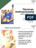 TECNICAS MOTIVACIONALES