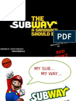 New Pampletes for Subway