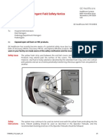 Urgent Field Safety Notice GE MRI