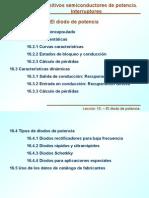 Los Diodos de Potencia (Caracteristicas Dinamicas y Estaticas) y Tipos de Encapsulados