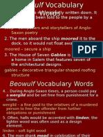 Beowulf Vocabulary Words