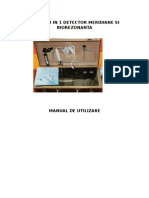 Manual Aparat Meridian Si Biorezonata