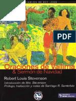 Stevenson Robert Louis - Oraciones de Vailima