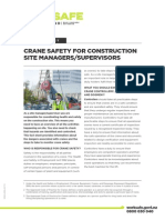 Crane Safety Site Managers Supervisors Factsheet