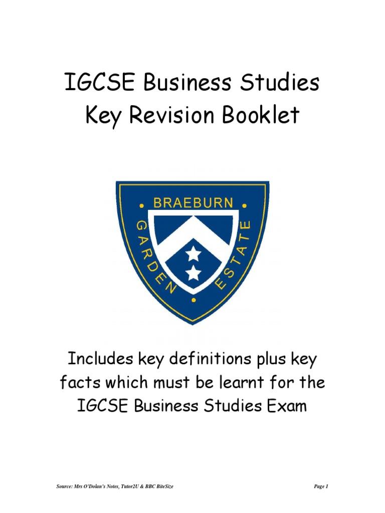 IGCSE Business Studies Exam Paper2 (Case Study) help!?