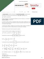 Solución General de Una Ecuación Cúbica
