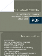 Geriatric Anaesthesia Ppt
