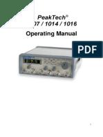 Generador de Señales Peaktech 1014