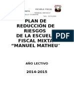 Plan de Reduccion de Riesgos Para Instituciones Educativa