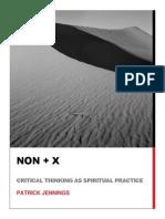 Thinking as Spiritual Practice