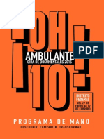 Festival Ambulante 2015. Programa de mano.