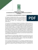 Comunicado 35 Aniversario Masacre Embajada de España Enero 2015