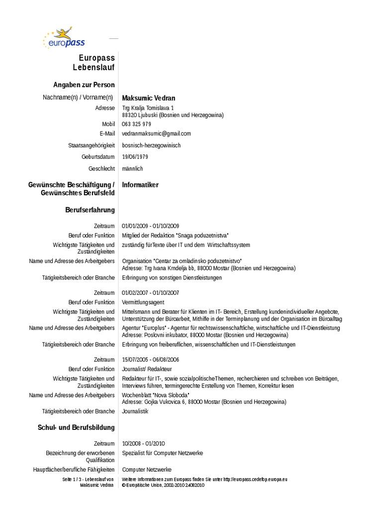 Charmant Lebenslauf Vorlage Büroarbeit Zeitgenössisch - Beispiel ...