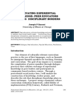 Zanoni, Joseph - Cultivating Experiential Knowledge. Peer Educators Working Disciplinary Borders