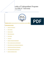 Admission Circular of Undergraduate Programs for Spring 2014 at BRAC University