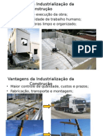 Vantagens da Industrialização da Construção