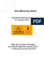 keep the memory alive- booklet