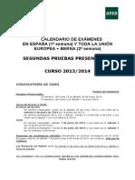 Calendario Alumno UNED 2015
