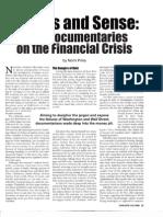 Nomi Prins economic documentary film reviews