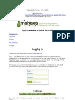 Guia rápido Mahara (Em Inglês) Disponível Em