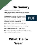 Tie Webquest