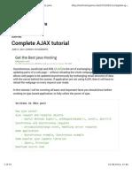 CComplete Ajax Tutorialomplete Ajax Tutorial