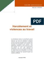 Dw18 Harcèlement Et Violence Au Travail