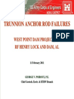 Trunnion Anchor Rod Failures