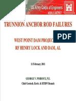 Trunnion Anchor Rod Failures