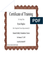 General Safety Orientation Course