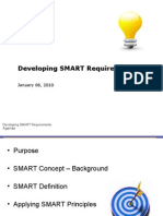 Developing SMART Software Requirements
