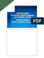 Trauma Du Rachis DL Aux Sports d'Hiver