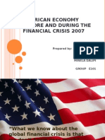 AMERICAN ECONOMY BEFORE AND DURING THE FINANCIAL CRISIS final