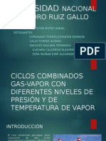 Ciclos Combinados Gas-Vapor Con Diferentes Niveles de Presión