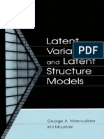 MARCOULIDES MOUSTAKI-Latent Variable and Latent Structure Models