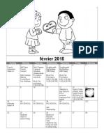 Pre-k Calendar Feb 2015