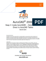 2008 AutoCAD Tables