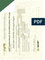 API 510 PV Inspector Certificate