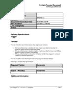 Defining Specifications SPD