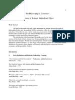 2005 - PhilosophyofEconomics - A History of Science & Methods