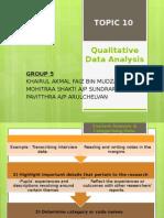 G5 - ToPIC 10 Point 1-3 (Qualitative Data Analysis)