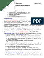 LQI Practica 3 Cristalizacion