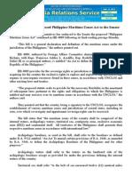 jan31.2015House endorses proposed Philippine Maritime Zones Act to the Senate