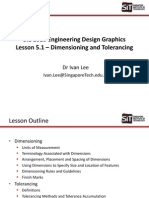 SIE1010 Lesson 5.1 - Dimensioning and Tolerancing (Part 1)