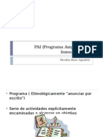 PAI (Programa Ampliado de Inmunización)