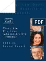 069.VCAT 2005-06 Annual Report (FTL Judge and Papaleo mentioned)