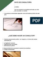 Contrato de perstacion de servicio de la  Consultoria