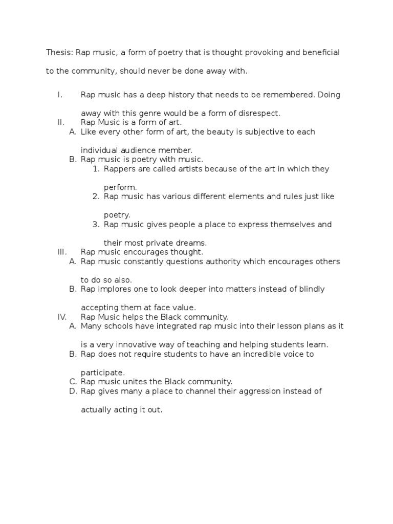Hip hop research paper